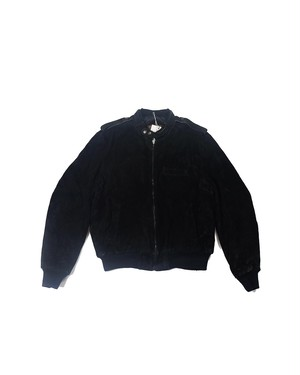 black suede leather jacket