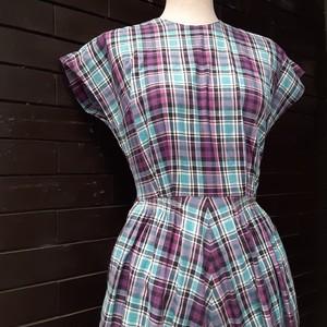 Check pattern short sleeve dress チェック柄半袖ワンピース