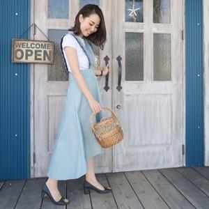 コントラストジャンパースカート(ブルー)