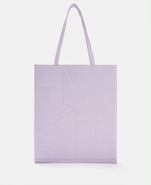 TOTE BAG WITH GEOMETRIC LINES [21201116630111]