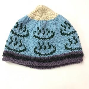 ゑでぃの手編みニット帽 温泉マーク