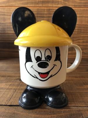 MICKEY FUN MUG②/ミッキーマウス プラスチックマグ 80's ビンテージ Earhat