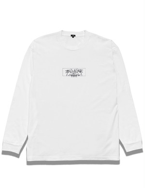 """""""Scissors&Squeegee"""" Long sleeve T-shirt / WHITE"""