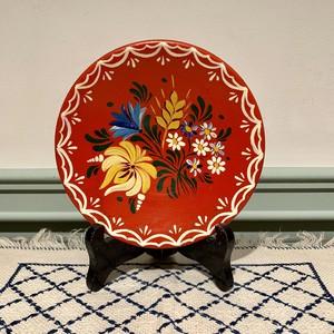 ハンガリー  フラワー柄の飾り皿 A