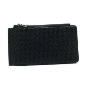 財布 イタリア製 ブラック 編み上げ