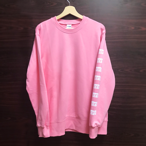 【6SENSE】 Sweat -left-(MINT PINK , WHITE)