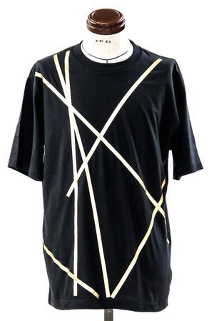 Ribon Foil Print T-shirt Gold