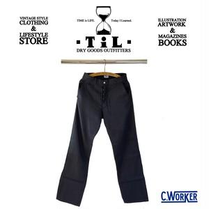 """CWORKS/シーワークス】2021SS「Linen Work Trousers""""Madison""""/リネンワークトラウザース""""マディソン""""ブラック"""