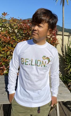 BE:LION. KAMOロングスリーブTシャツ ホワイト