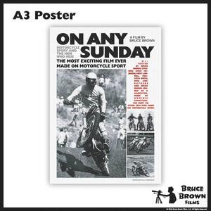 バイク映画A3ポスター・ON ANY SUNDAY(オンエニーサンデイ)・モノ2