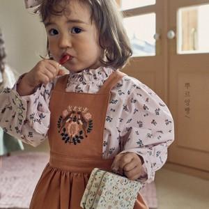 【新作予約】【pourenfant】Anais Blouse 小花柄 コットンブラウス 春 ベビーカラー ナチュラル 韓国子供服