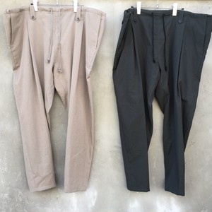 "YANTOR  ""wash wool taperd tie pants"""