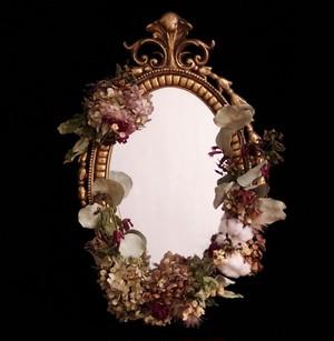 hydrangea mirror vintage   3