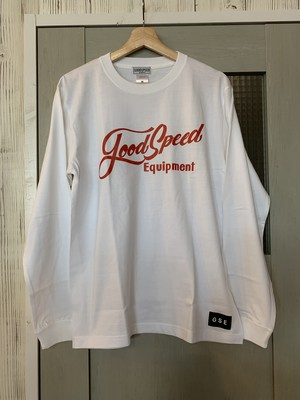 GOODSPEED equipment EVILACT(イーブルアクト )Lettering logo L/S tee(white×red)
