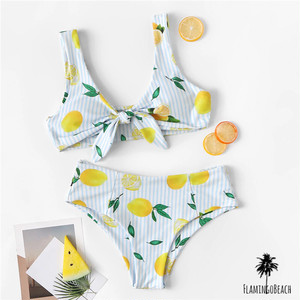 【FlamingoBeach】lemon high west bikini ハイウェストビキニ 39906