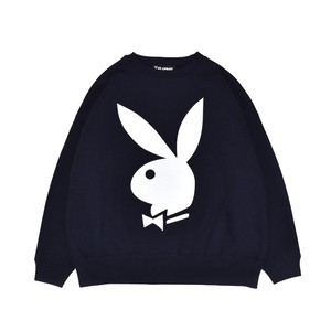 EXAMPLE x PLAYBOY BACK HEART LOGO OVER CREW NECK / NAVY