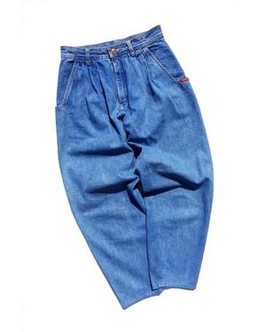 1990's [ESPRIT] 3タック ワイドテーパードジーンズ アイスブルー 実寸(W70cm位)