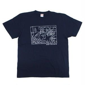 """""""KEEP THE FLAME TOUR"""" T-shirt Navy"""
