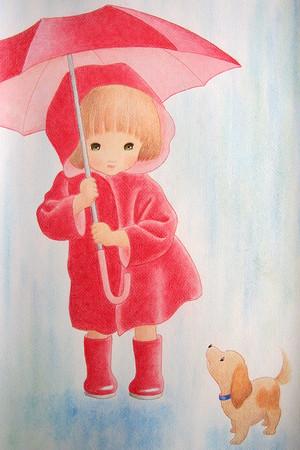 ポストカードNo.83「雨の朝」