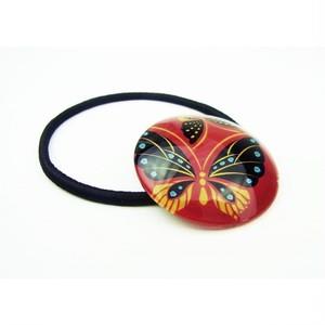 蒔絵調おはじきヘアゴム 蝶々 89301-1709