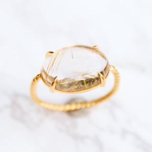 #12 Twist ring ルチルクォーツ
