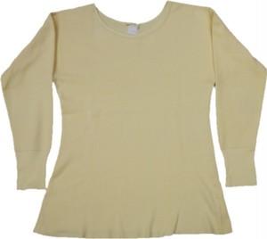 60~70's 針抜きリブ Color Thermal T-Shirts(レモンイエロー)