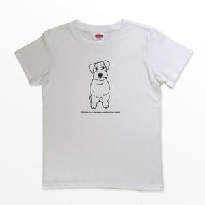 イヌは家族Tシャツ / シュナウザー