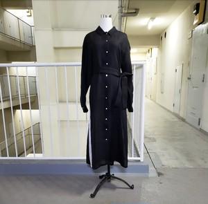 SIGHTLINEのシャツワンピース(black)