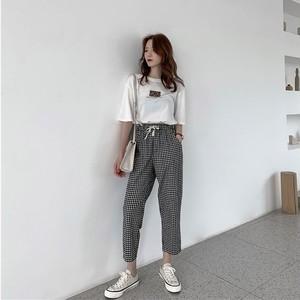 【送料無料】選べる2デザイン♡ギンガムチェック♡リラックス パンツ♡