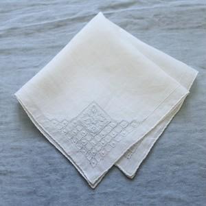 Vintage Embroidered Handkerchief 002・ヴィンテージ 刺繍ハンカチ 002 U.S.A