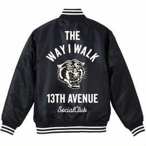 THE WAY I WALK STADIUM JACKET col.blk