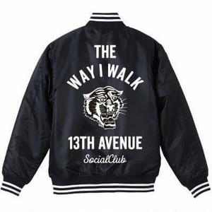ご予約商品 THE WAY I WALK STADIUM JACKET col.blk