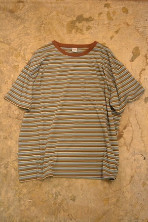 COMFORTABLE REASON / Multi Border S/S Pocket Tee