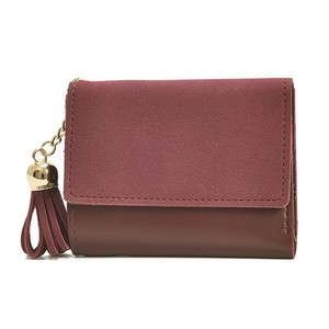 Wallet Leather Wallet Purse Three Color Clutch Card Holder ショート レザー 財布 パスケース ウォレット (HF99-3308081)