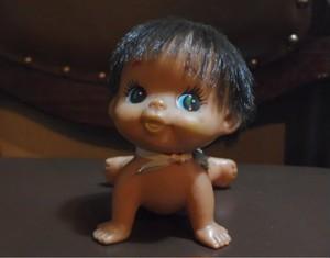 昭和レトロな女の子のお人形 ソフビ