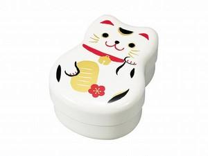 丸子2段弁当まねきねこ(WH/BK)