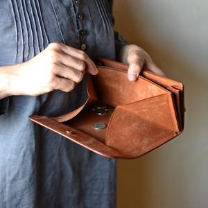 ゆったり使える長財布「オアシス・シナモン」