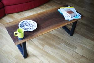ウォールナット一枚板×アイアン コーヒーテーブル