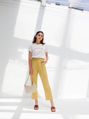 color tuck pants(yellow)
