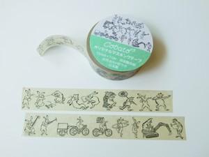 マスキングテープ 鳥獣戯画現代版 戯画ミックス
