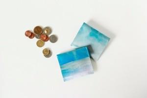 青い空のコインケース|受注制作