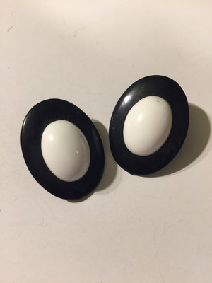 Vintage black × white earrings ( ヴィンテージ  ブラック × ホワイト イヤリング )