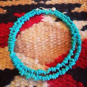 ターコイズ ブレスレット/ネックレス ブルー