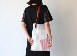 zero:Pleats bag - L(ストライプ)プリーツ・バッグ L:ショルダーバッグ 軽い 透ける 透明感