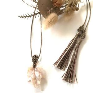 サクラアゲート(チェリーブロッサムアゲート)のマクラメ編みネックレス