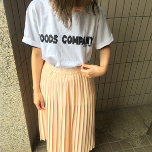 GOODSCOMPANY Tシャツ WHITE×BLACK goodst