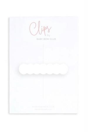BABY BOW CLUB Scallop Clip // Seashell