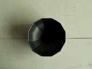 十二角ボウル  黒マット釉