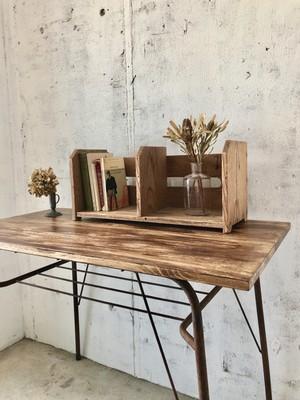 ナチュラル木味の本立て[古家具]