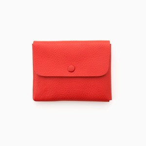 Wallet Red (シュリンクレザー、くるみボタンタイプ)